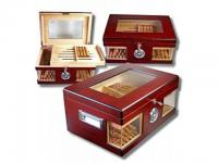 Wonderful Kristallglas Humidor Wood V-1320
