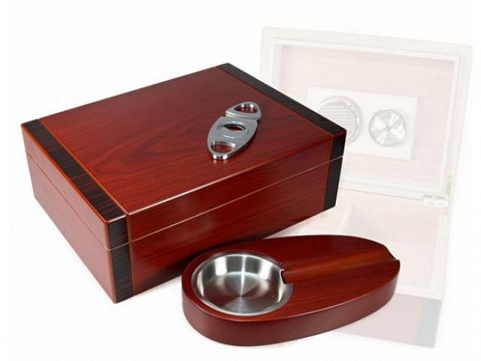 Cherry bicolor Humidor-Set