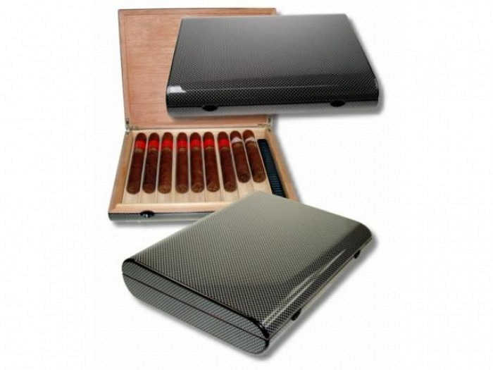 B�ro-/Reisehumidor Carbon-Finish